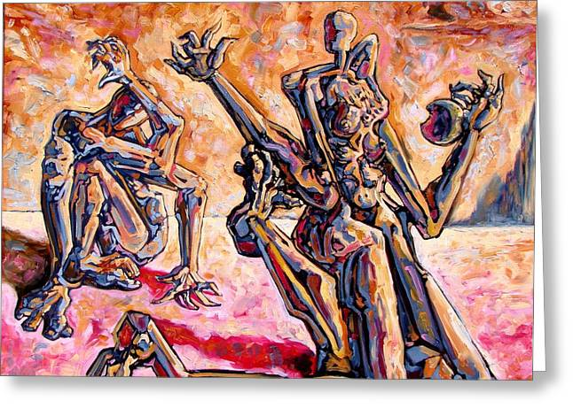 Abstract Expressionist Greeting Cards - 4.5 billion BC Greeting Card by Darwin Leon