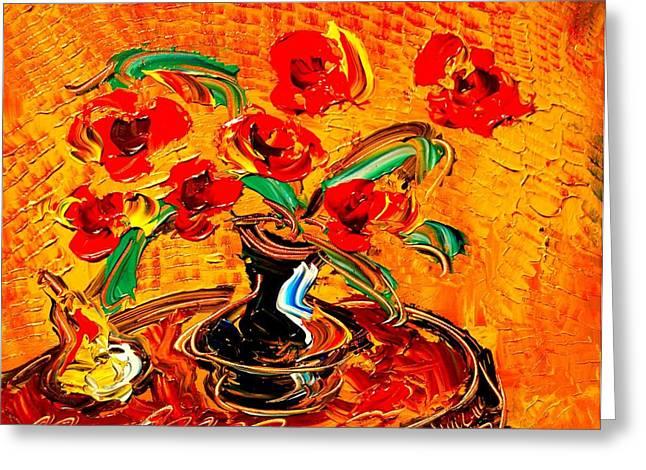 Fine Art Prints Framed Prints Greeting Cards - Flowers Greeting Card by Mark Kazav