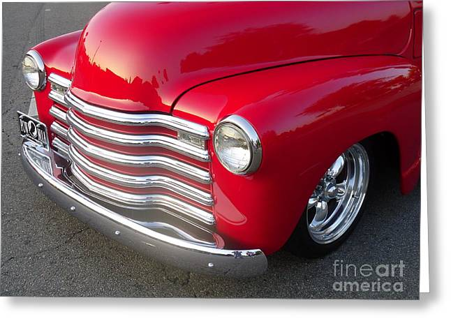 49 Chevy Greeting Cards - 47-53 Chevy Half Ton Pickup Truck Greeting Card by Darin Browne