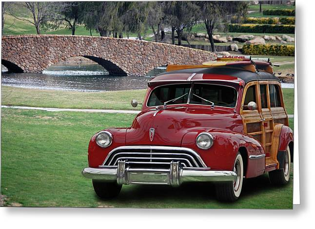 Car 47 Greeting Cards - 47 Olds Woody Greeting Card by Bill Dutting