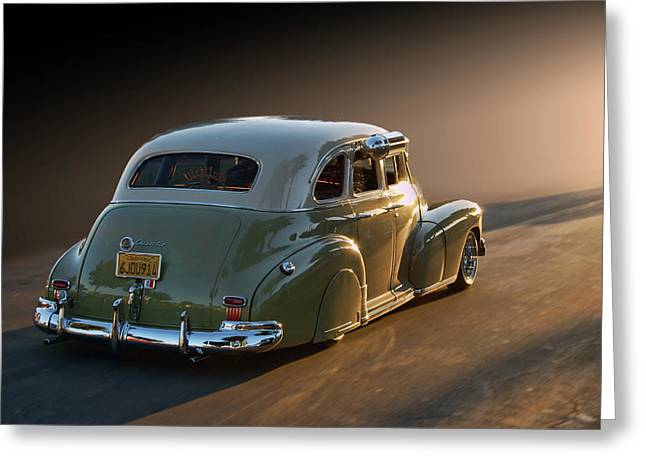 Cruisin For A Cure Greeting Cards - 47 Stylemaster Greeting Card by Bill Dutting