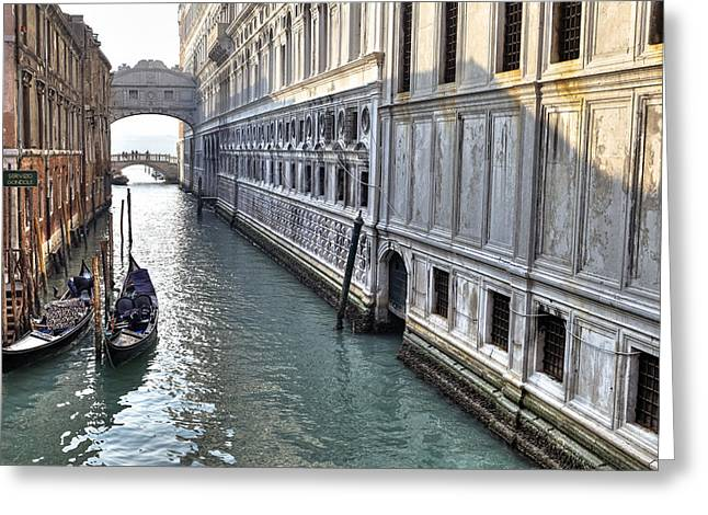 Palace Ducal Greeting Cards - Venezia Greeting Card by Joana Kruse
