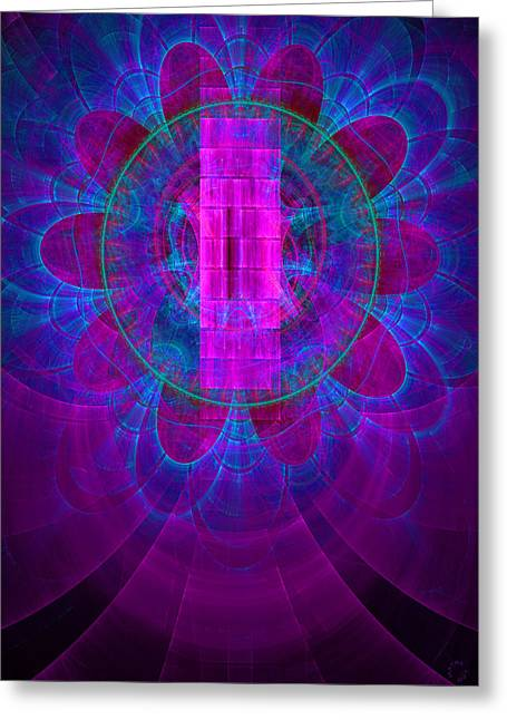 Generative Abstract Greeting Cards - 472 Greeting Card by Lar Matre
