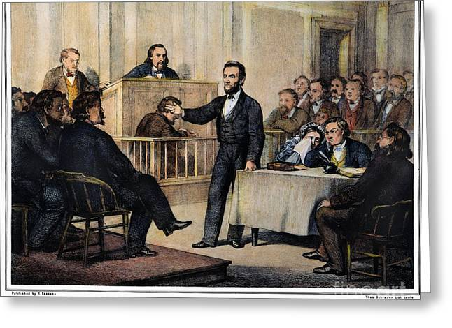 Republican Greeting Cards - Abraham Lincoln Greeting Card by Granger