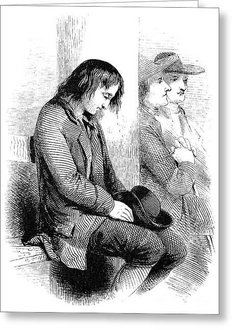 Quaker Meeting Greeting Cards - Benjamin Franklin (1706-1790) Greeting Card by Granger