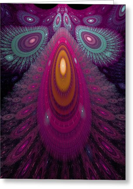 Generative Abstract Greeting Cards - 484 Greeting Card by Lar Matre