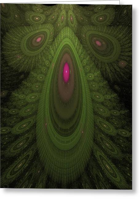 Generative Abstract Greeting Cards - 485 Greeting Card by Lar Matre