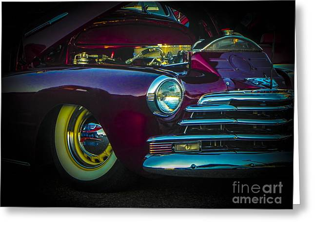 Tricked-out Cars Greeting Cards - 49 Chevy Bad Boy Greeting Card by Chuck Re
