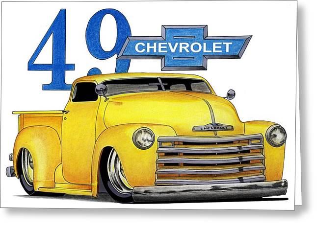 49 Chevy Greeting Card by Lyle Brown