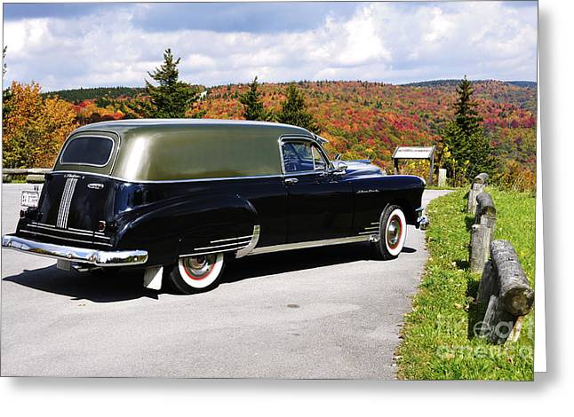 '49 Silver Streak With A View Greeting Card by Thomas R Fletcher