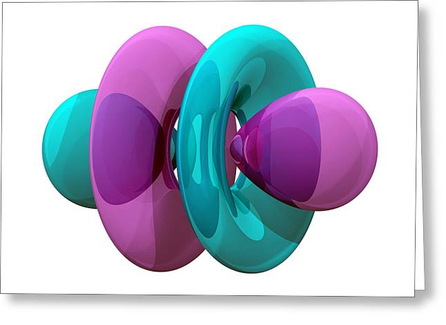 4fz3 Electron Orbital Greeting Card by Laguna Design