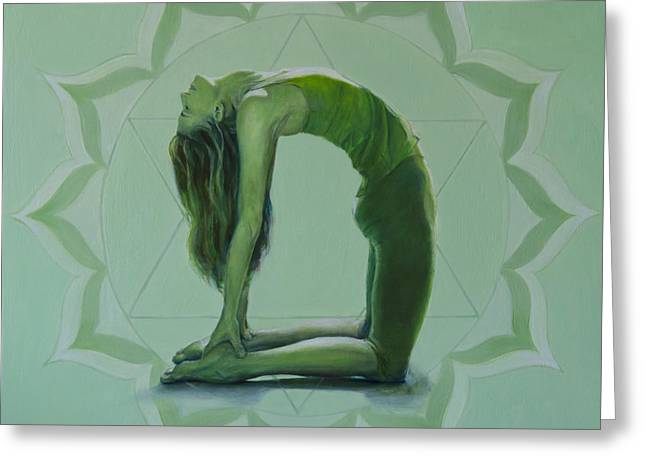 Anahata Greeting Cards - 4th Chakra - Heart Greeting Card by Shelly Meredith
