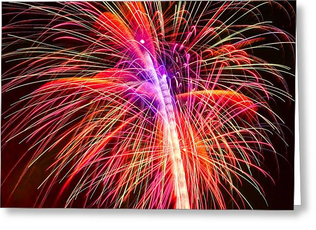 4th July Greeting Cards - 4th of July - Independence Day Fireworks Greeting Card by Gordon Dean II