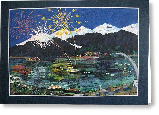 4th Of July In Juneau Alaska Greeting Card by Sunny Eccleston