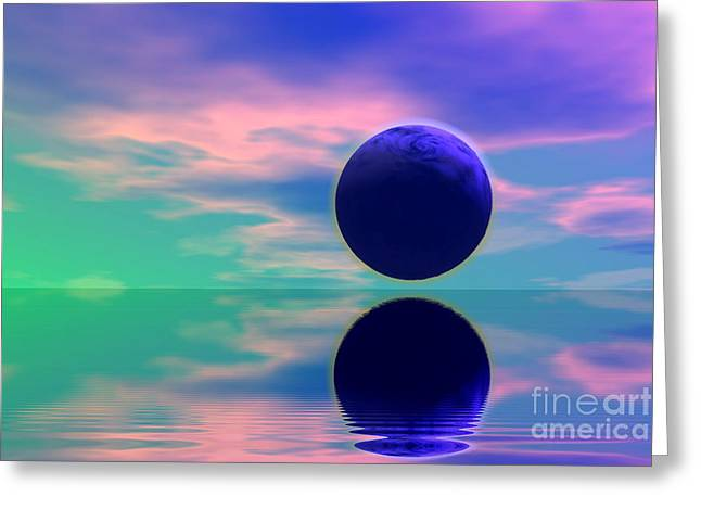 Planet reflection Greeting Card by Odon Czintos