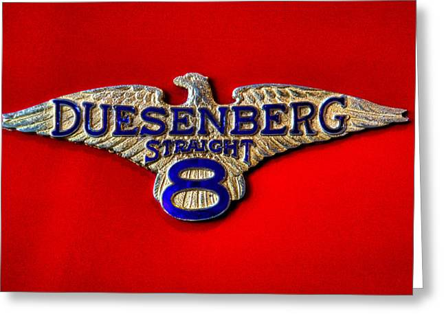 Mascots Greeting Cards - 1930 Duesenberg Model J Convertible Greeting Card by David Patterson