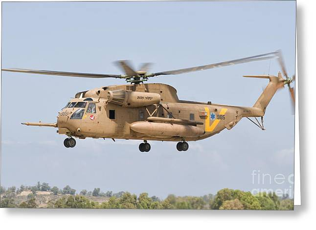A Sikorsky Ch-53 Yasur Of The Israeli Greeting Card by Giovanni Colla