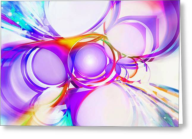 Spheres Digital Art Greeting Cards - Abstract Of Circle  Greeting Card by Setsiri Silapasuwanchai