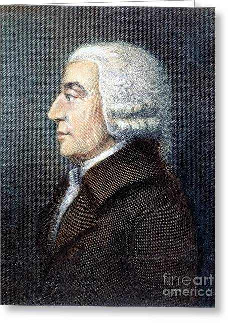 Robert Adam Greeting Cards - Adam Smith (1723-1790) Greeting Card by Granger