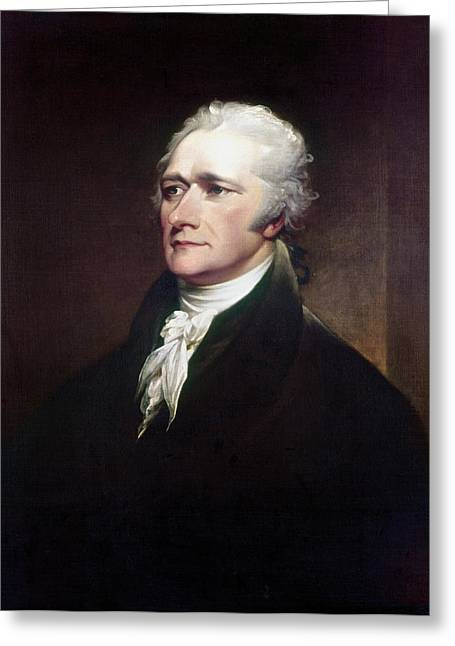 18th Century Greeting Cards - Alexander Hamilton Greeting Card by Granger