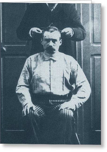 Alphonse Bertillon Greeting Cards - Alphonse Bertillon, French Biometrician Greeting Card by Science Source