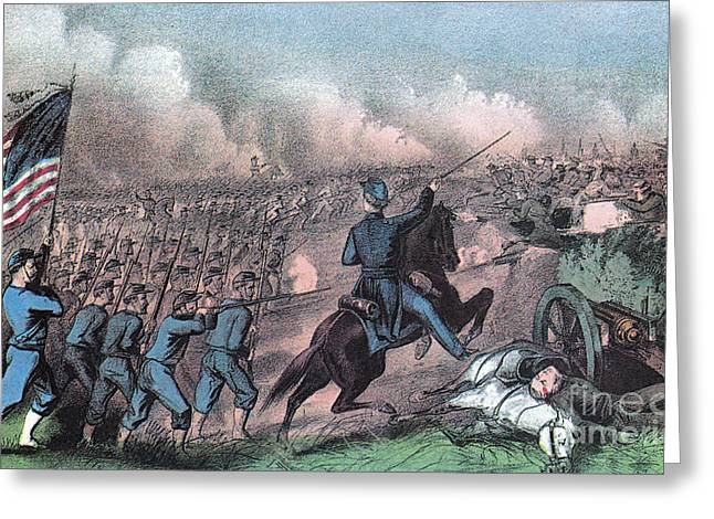 Brigade Greeting Cards - American Civil War, Battle Greeting Card by Photo Researchers