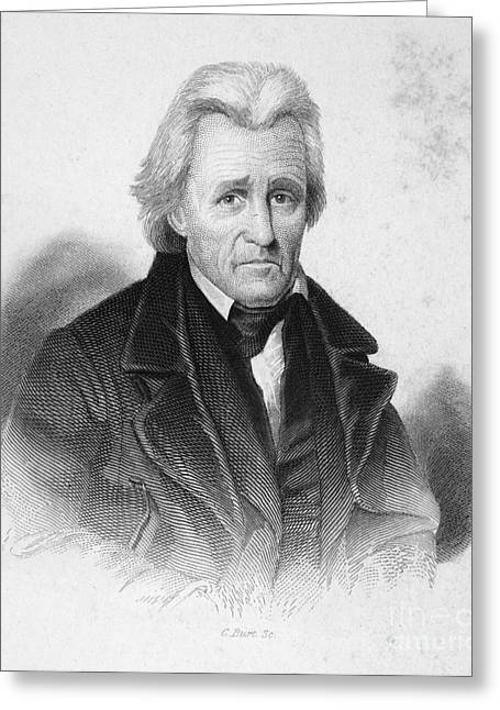Democratic Party Greeting Cards - Andrew Jackson (1767-1845) Greeting Card by Granger