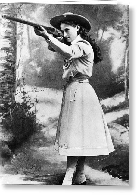 19th Century America Greeting Cards - Annie Oakley (1860-1926) Greeting Card by Granger
