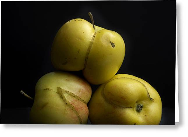 Flaws Greeting Cards - Apples Greeting Card by Bernard Jaubert