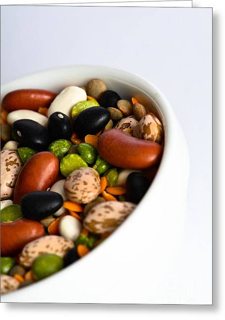 Green Beans Greeting Cards - Assortment Of Beans And Lentils Greeting Card by Photo Researchers, Inc.