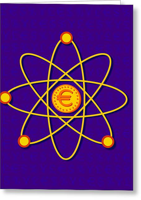 Neutron Greeting Cards - Atomic Structure Greeting Card by David Nicholls