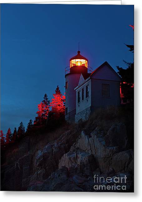 Mt Desert Island Greeting Cards - Bass Harbor Lighthouse Greeting Card by John Greim