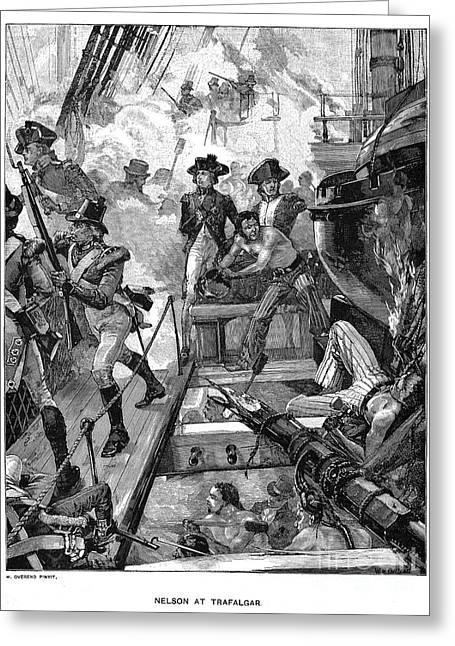 Trafalgar Greeting Cards - Battle Of Trafalgar, 1805 Greeting Card by Granger