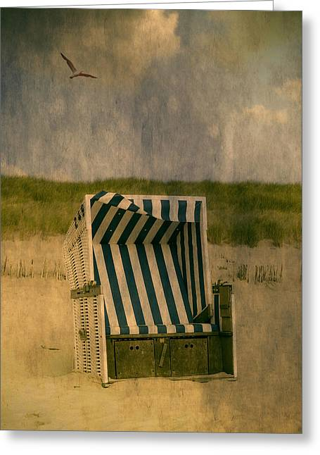 German Ocean Greeting Cards - Beach Chair Greeting Card by Joana Kruse