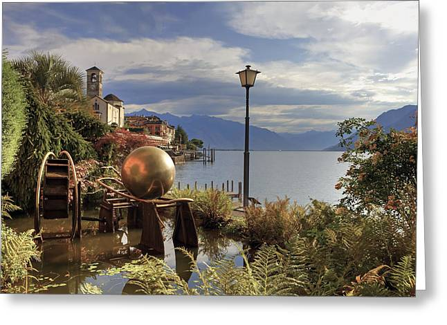 Historically Greeting Cards - Brissago - Ticino Greeting Card by Joana Kruse