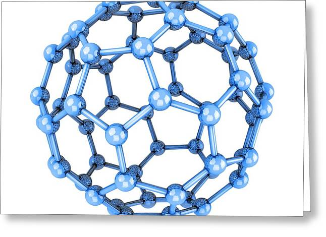 Truncated Greeting Cards - Buckminsterfullerene Molecule Greeting Card by Laguna Design