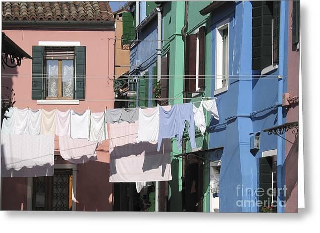 Italie Greeting Cards - Burano.VENICE Greeting Card by Bernard Jaubert