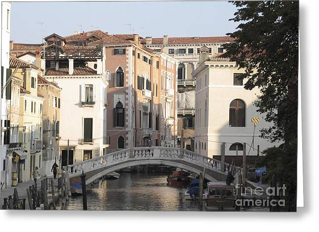 City Canal Greeting Cards - Canal. Venice Greeting Card by Bernard Jaubert