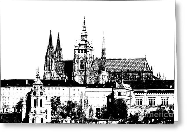 Religious Mixed Media Greeting Cards - Cathedral of St Vitus Greeting Card by Michal Boubin