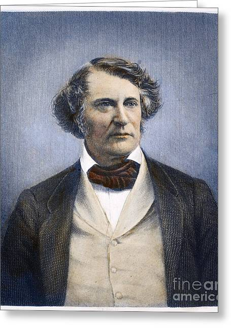 Abolition Greeting Cards - Charles Sumner (1811-1874) Greeting Card by Granger
