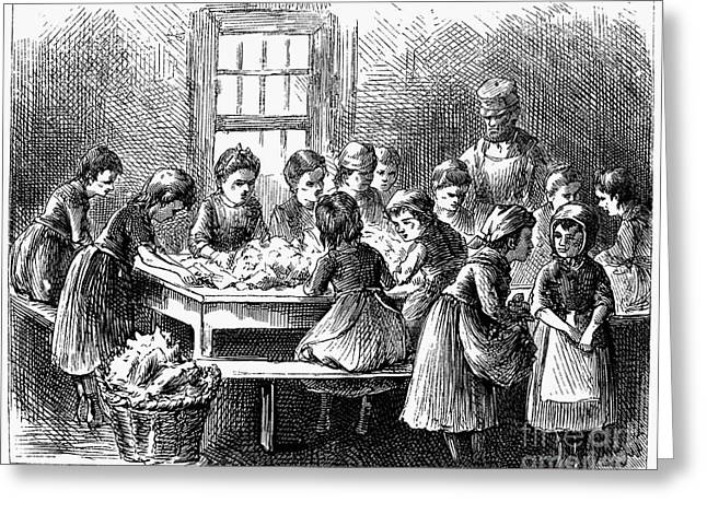 Employer Greeting Cards - Child Labor, 1873 Greeting Card by Granger