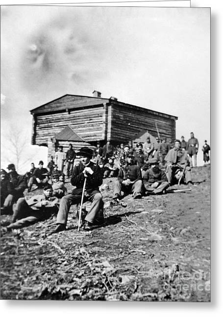 Log Cabins Greeting Cards - Civil War: Signal Corps Greeting Card by Granger