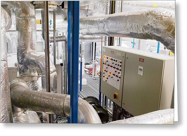 Control Panels Greeting Cards - Clean Room Ventilation Apparatus Greeting Card by Colin Cuthbert