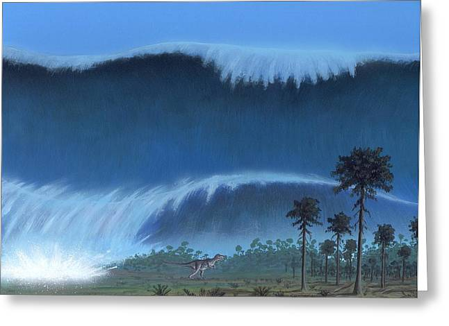 Engulfing Greeting Cards - Cretaceous-tertiary Extinction Event Greeting Card by Richard Bizley