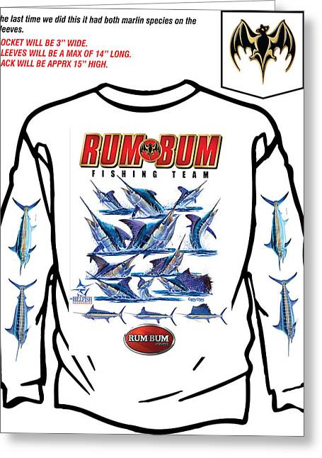 Billfish Foundation Greeting Cards - Custom T Shirts Greeting Card by Carey Chen