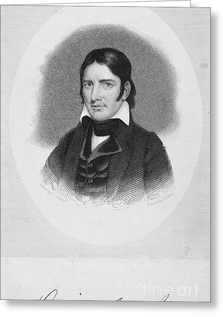 Autograph Greeting Cards - Davy Crockett (1786-1836) Greeting Card by Granger