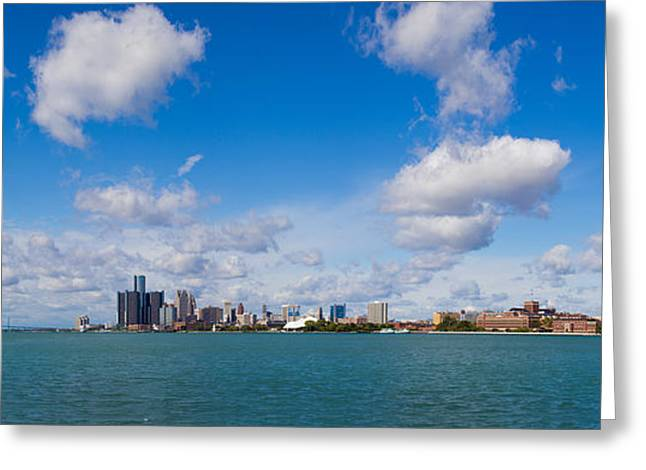Detroit Michigan Skyline Greeting Card by Twenty Two North Photography