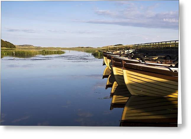 Reflections Of Sky In Water Greeting Cards - Dunfanaghy, County Donegal, Ireland Greeting Card by Peter McCabe