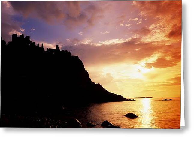 Serene Setting Greeting Cards - Dunluce Castle, Co Antrim, Ireland Greeting Card by The Irish Image Collection