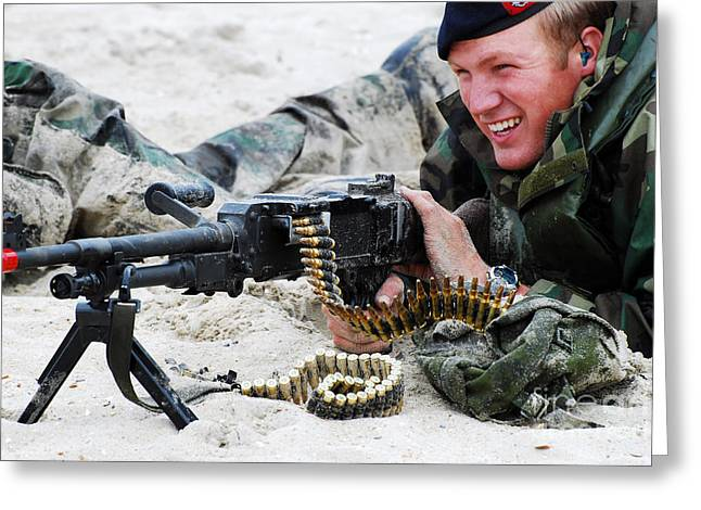 Fed Greeting Cards - Dutch Royal Marines Taking Part Greeting Card by Luc De Jaeger